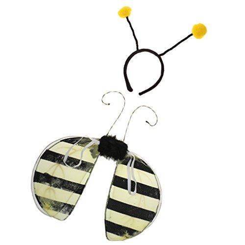 ekt Flügel - Feen Kostüm Kinder mit Marienkäfer Stirnband (Kinder Ameise-kostüm)
