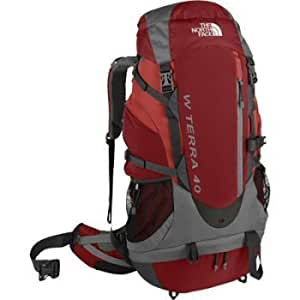 049f34abf THE NORTH FACE TERRA 40 BACKPACK - WOMENS - O/S - BLAZE RED: Amazon ...