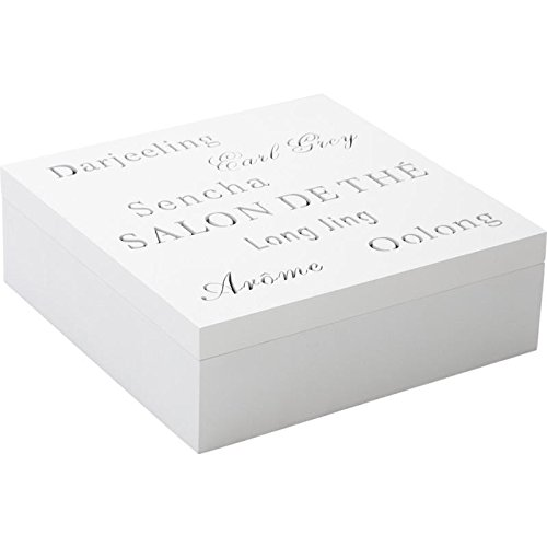 Aubry gaspard - vcp1130 - Boîte à thé en bois 9 compartiments blanc