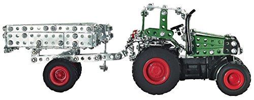 RC Auto kaufen Traktor Bild 2: Tronico 09521 - Metallbaukasten Traktor Fendt 800 Vario mit Kippanhänger und Fernsteuerung, Maßstab 1:64, Micro Serie, grün, 451 Teile*
