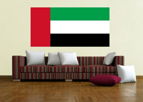 Kiwistar Wandtattoo Sticker Fahne Flagge Aufkleber Vereinigte Arabische Emirate 120 x 60cm