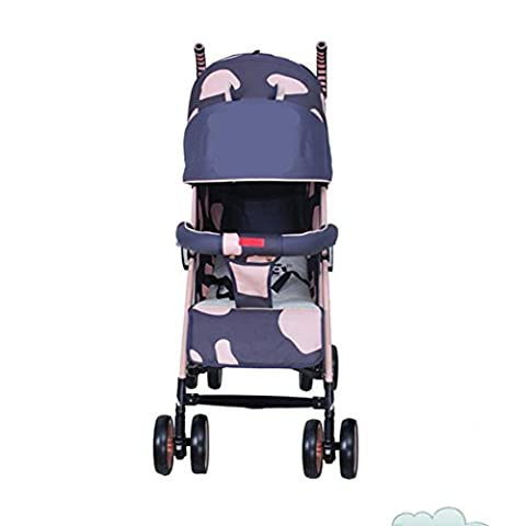 Qian Oxford cloth carrying a folding shock can sit in a simple four-wheeled light umbrella car stroller
