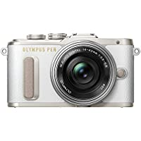 Olympus PEN E-PL8 14-42 EZ Pancake Zoom Kit Compact System Camera - White