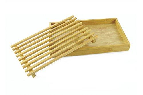 Galileo Casa Bamboo Tabla de Cortar Pan, Madera, marrón Claro, 23x 37x 2cm