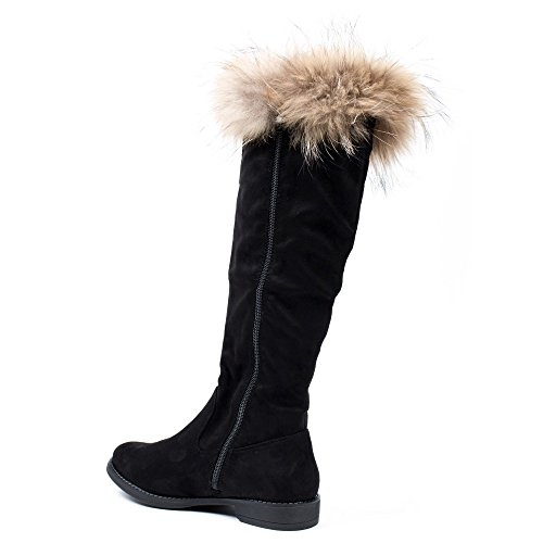 Ideal Shoes, Damen Stiefel & Stiefeletten Schwarz