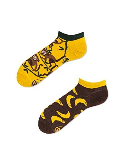 Verrückte Sneaker Socken - Fun Socks - Unisex, Damen, Herren - Monkey Business - Affen & Bananen 35-38