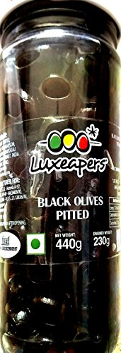 Luxeapers Black Pitted Olives