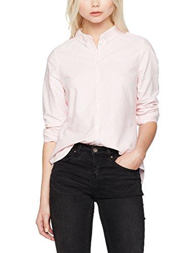 Vero Moda Vmkatie Ls Shirt Noos, Blouse Femme Rose (english Rose Detail:striped W. Snow White)