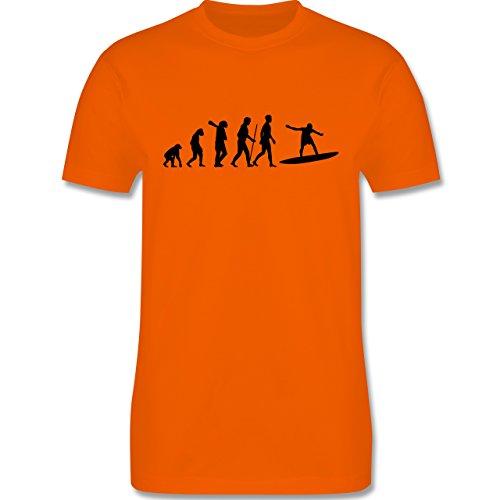 Evolution - Surfer Evolution - Herren Premium T-Shirt Orange