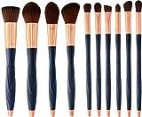 Professionelle Make up Pinsel Set 10Pcs - hoch qualitative super softe synthetische Bürsten - luxuriöse mit Öl codierte Griffe - Kosmetik Schminkpinsel in Rosegold