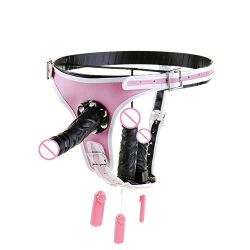Verstellbarer Strap-On Harness Dildo Vibrator tragbar Dildos Anal Plug Vagina Massage Unterhose Gürtel Erwachsene Sexspielzeug für Frau Gay