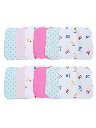 Mee Mee Mini Baby Napkins, Blue/Pink (Set of 12)