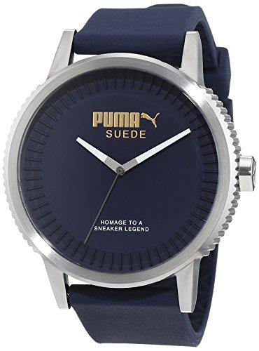 Puma Time–Reloj de pulsera para hombre 10410Suede–azul oscuro, analógico, de cuarzo, silicona PU104101003