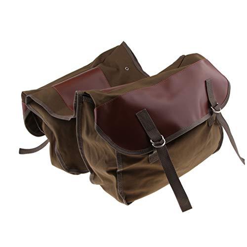 IPOTCH -Satteltaschen Fahrrad-Gepäckträger Doppel-Packtaschen Kofferraumtasche
