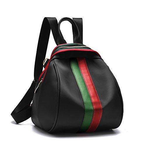 Mefly Nuovo Signore Nello Zaino Per Il Tempo Libero Della Benna Di Colore Rosso Sacchetto Green Strip Red green strip
