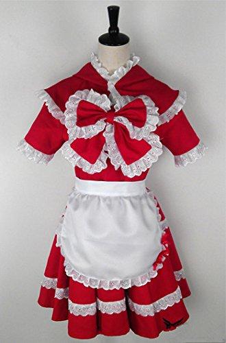 Kostüm Hood Riding Dark Red (Vivian LOL League of Legends The Dark Child Annie Little Red Riding Hood Cosplay Kostüm Customize b2(kann angepasst werden),Größe M:(160-165)