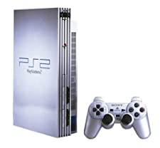 Silver Sony PS2 Console with one controller
