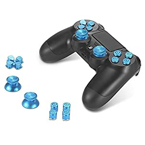 Sony PS4 Playstation 4 Controller Button Set Aluminium – Blue
