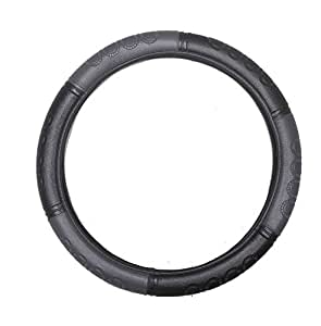 Vheelocityin 85327 Grey and Black Steering Cover for Hyundai Xcent