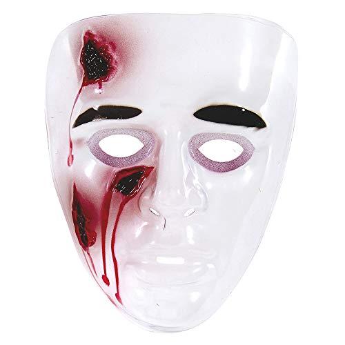 WIDMANN vd-wdm26567Máscara heridas sanguinanti de PVC, color blanco, talla única