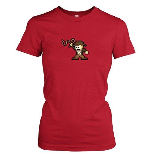 TEXLAB - Pixel Jones - Damen T-Shirt Rot