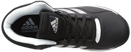 Adidas Performance Cloudfoam Ilation Mid scarpa da basket, nero / argento metallizzato / bianco, 6,5 Nero