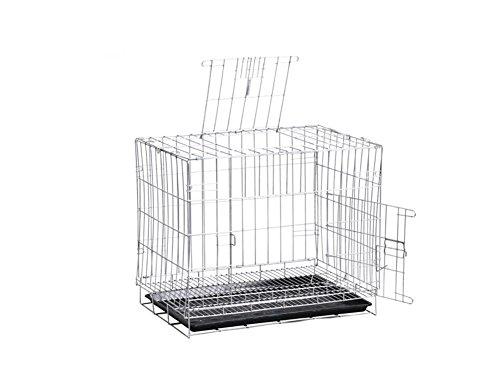 Hundehütten, Medium Hund Haustier Bett Zwinger Verschlüsselung Eisen Käfig Falten Silber 50 * 70 * 60 cm