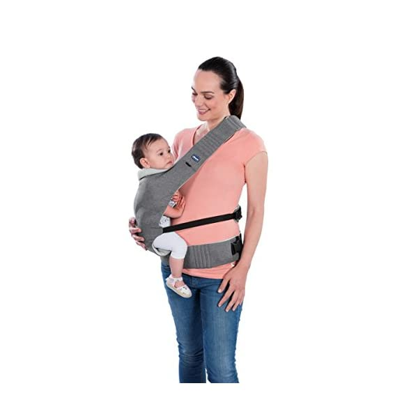 "Chicco myamaki Sling Denim  Suitable from birth. Multi-position: parent facing (0m+), hip position (6m+), back position (6m+) Acknowledged as a ""hip-healthy"" product by the hide (international hip dysplasia institute). 5"