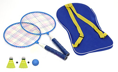 Kurtzy Kids Badminton Racket, One Carry Bag With Perfect Grip With 2 x Nylon Shuttlecock & 1 Ball