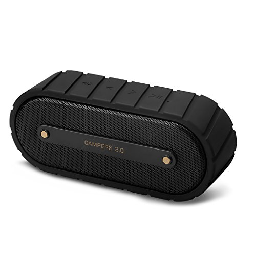 Mrice-Campers20-Altavoz-Bluetooth-Inalmbrico-con-Micrfono-Porttil-Impermeable-Recargable-Bluetooth-40-6-W-35mm-de-Entrada-de-Audio-Soporta-Tarjeta-TF-Negro