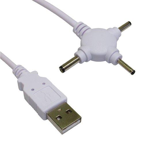Preisvergleich Produktbild 3x Kopf USB Strom Kabel DC 2,5 mm 3 mm & 3,5 mm DC Klinkenstecker 1,5 m
