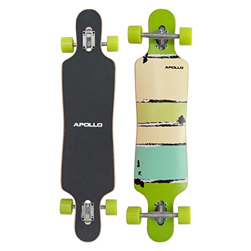 Longboard Apollo Tonga Special Edition Tavola Completa con Cuscinetti a Sfera ABEC High Speed incl. Skate T-Tool, Drop Through Freeride Skating Cruiser Boards Tavole