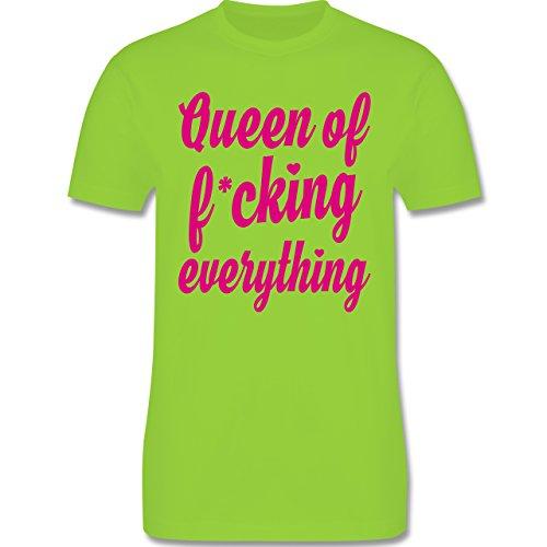Shirtracer Statement Shirts - Queen of Fucking Everything - Herren T-Shirt Rundhals Hellgrün