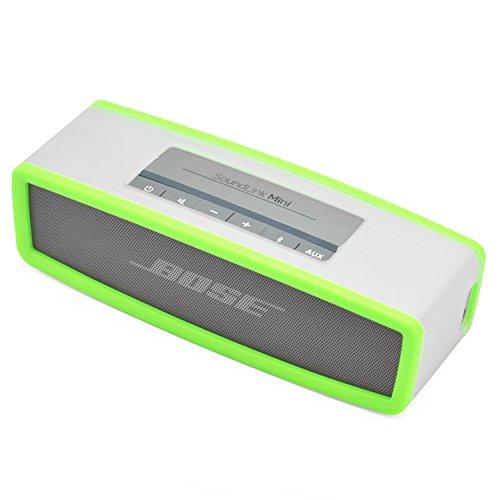 iprotect Schutzbox Abdeckung für Bose So&Link Mini Lautsprecher Soft Cover Case in transparent & Grün