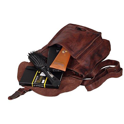 Billy the Kid Panamerica Sac bandoulière cuir 30 cm brown