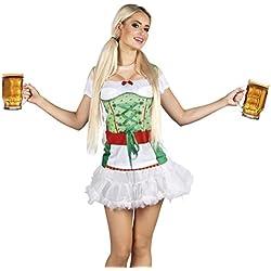 Fasching Fete Mujer Disfraz/3d Photo vestido fotográfico realistik dirndelkleid Oktoberfest, S de l, multicolor multicolor multicolor large