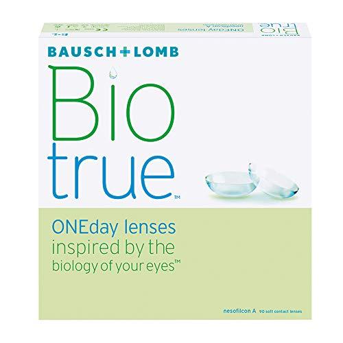 Bausch & Lomb Biotrue ONEday Tageslinsen weich, 90 Stück / BC 8.6 mm / DIA 14.2 mm / -02.00 Dioptrien