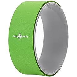 Hoopomania Yoga Wheel (rueda de yoga), soporte dorsal, verde-gris