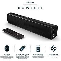 Majority Bowfell Compact 2.1 Soundbar with Optical, AUX + RCA USB Playback 50W TV Bluetooth PC Black
