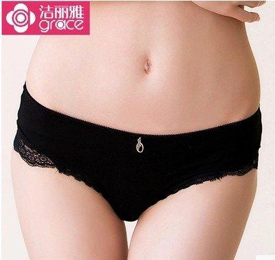Unterhosen Unterwäsche Bambusfaser Spitzenkante Sexy antibakterielle Traceless Schriftsatz, XL Greatlpk XL