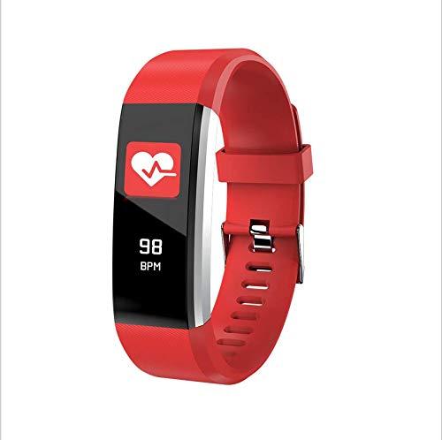 Neues tragbares Gerät Farbbildschirm Bluetooth Armband wasserdicht Schritt Test Herzfrequenz Smart Armband rot