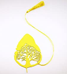 Tree in a Leaf Metal Bookmark