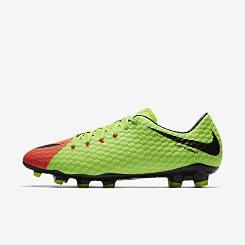 Nike Scarpe da calcio HYPERVENOM Phelon III FG Electric Green/Black-Hyper, Uomo, ELECTRIC GREEN/BLACK-HYPER, 43