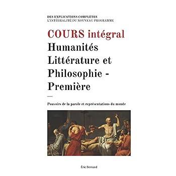 Cours intégral: Humanités, Littérature et Philosophie - Première