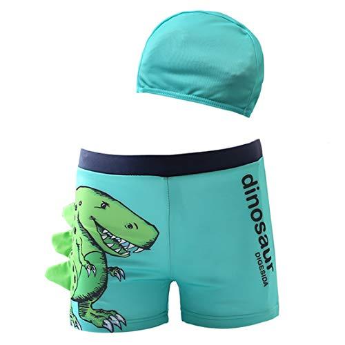 Bañador Niños Boxer de Natación Traje de Baño Natación Playa Estampado Dinosaurio Elástica Pantalones...