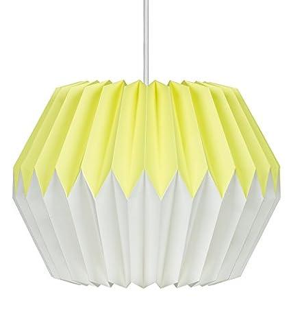 Wild Wood Paper Lampshade, Lemon Yellow