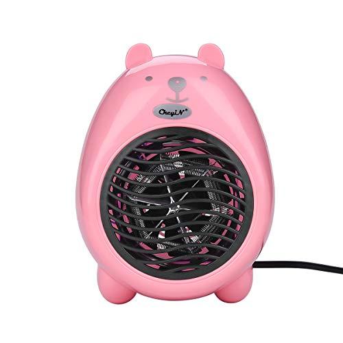 Unknow Calentador ,Calentador Eléctrico De Dibujos Animados Mini Calentador De Escritorio Calentador De Aire Caliente para El Hogar De La Oficina (Rosa)