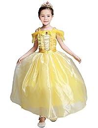 Pettigirl Princesa La Bella Disfraz Viste a Party Fancy Vestidos