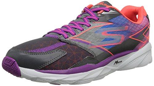 Skechers  Go Run Ride 4,  Damen Laufschuhe Grey (Grey/Purple)