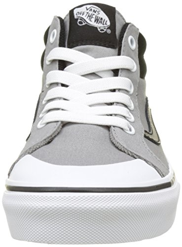 Vans Jungen Uy Racer Mid Hohe Sneakers Grau (Canvas)